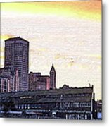 Smith Tower View Metal Print
