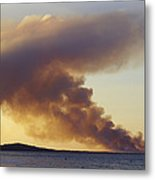 Smoke From A Wildfire Billows Metal Print