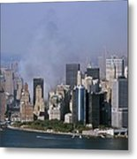Smoke From The Ruins Of The World Trade Metal Print