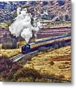 Smoke In The Valley Metal Print