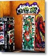 Smoke Shop Grafitti Art  Metal Print