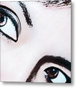 Smokey Eyes Of A Woman Metal Print