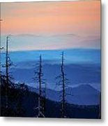 Smokey Mountain Sunset As Seen From Clingman's Dome Metal Print