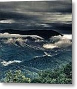 Smoky Mountain Clouds    Metal Print by Glenn Lawrence