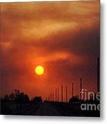Smoky Sun2 Metal Print