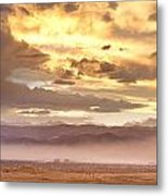 Smoky Sunset Over Boulder Colorado  Metal Print
