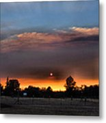 Smoky Sunset Wide Angle 08 27 12 Metal Print