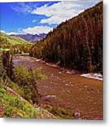 Snake River And Rafters Metal Print