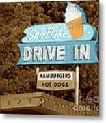 Sno-flake Drive In Lake Tahoe Metal Print