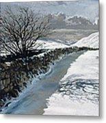 Snow Above Barbondale - Barbon Metal Print
