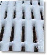 Snow Abstract 4 Metal Print