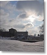 Snow At The Art Museum - Philadelphia Metal Print