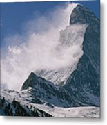 Snow Blows Off Of The Matterhorn Metal Print