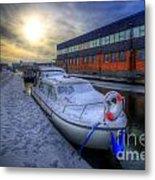 Snow Boat 1.0 Metal Print