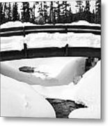 Snow Bridge In Canadian Rockies Metal Print