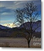 Snow-capped Monte Rosa Metal Print