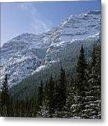 Snow Capped Mountain Metal Print