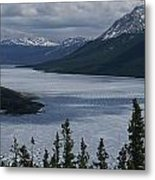 Snow-capped Moutains Rise Metal Print