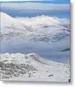 Snow Covered Landscape In Winter Near Metal Print