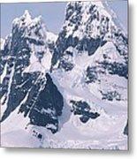 Snow-covered Mountains On Wienke Metal Print