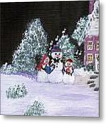 Snow Family Singers Metal Print