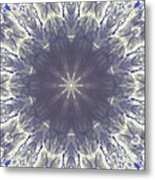 Snow Flake Crystal Metal Print