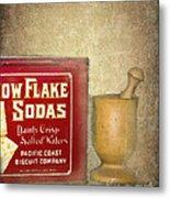 Snow Flake Soda Crackers Metal Print