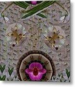 Snow Flowers And Orchids In Heavenly Wisdom Metal Print