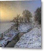 Snow Landscape Sunrise 2.0 Metal Print