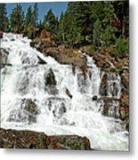 Snow Melt Glen Alpine Falls Metal Print