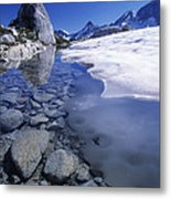 Snow Melting Metal Print by David Nunuk