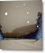 Snow On The Chero Solarized  Metal Print