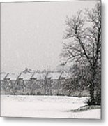 Snow Scape London Sw Metal Print by Lenny Carter