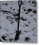 Snow  Spade Metal Print