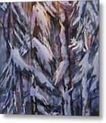 Snow Splattered 1 Metal Print