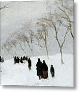 Snow Storm Metal Print by Anton Mauve