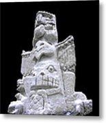 Snow Totem Pole Metal Print