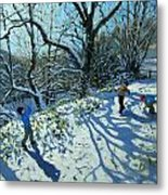 Snowball Fight Metal Print