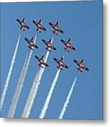 Snowbirds In The Big Diamond Formation Metal Print