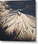 Snowcovered Volcano Andes Chile Metal Print by Colin Monteath