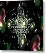 Snowflake Bubble Glass Metal Print