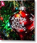 Snowflake Ornament Metal Print