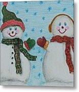 Snowmen 2 Metal Print