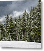 Snowstorm In The Cascades Metal Print