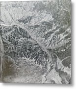 Snowy And Hazy Central Russia Showing Metal Print