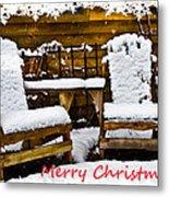 Snowy Coffee Holiday Card Metal Print