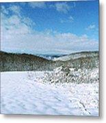Snowy Hill Metal Print