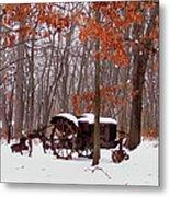 Snowy Implement Metal Print