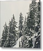 Snowy Ridge Near Snoqualmie Pass Metal Print