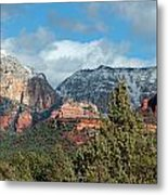 Snowy Sedona Afternoon Metal Print